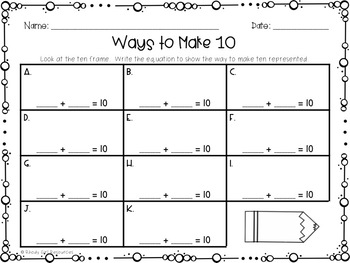 September Ways to Make 10