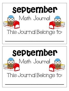September Weekly Math Journals CCSS