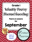September Poetry and Shared Reading