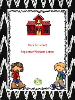 September Welcome Letter