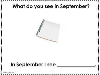 September, What Do You See? Matching and Sentence Completion Book for Vocabulary