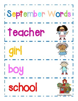 September Word Cards