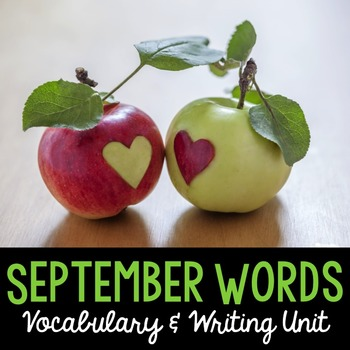 September Word Cards and Word Walls {in English and Spanish}
