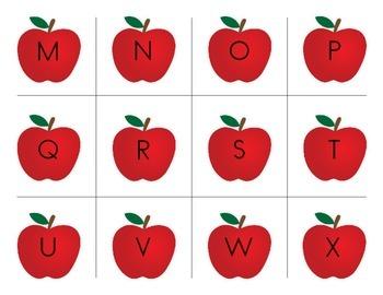 Apple Letter & Word Reading Game