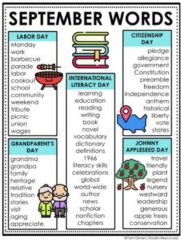 September Word List