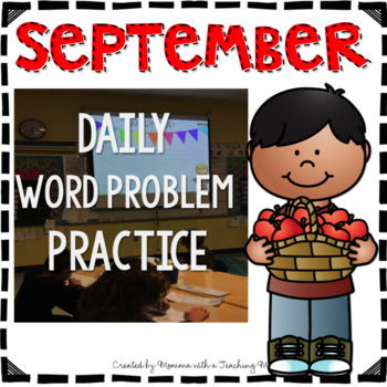 September Word Problem Warm-Ups & Printables 1.OA.1