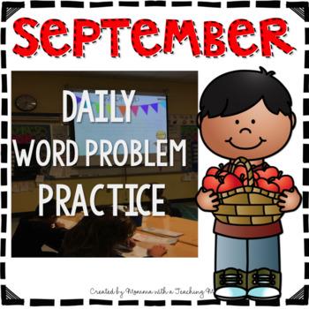 September Word Problem Warm-Ups & Printables 1.OA.1