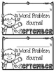 September Word Problems Journal Booklet