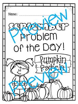 September Word Problems Pack & Math Interactive Notebook Activities!