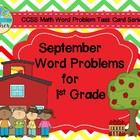 September Word Problems for 1st Grade (TASK CARDS)