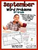 September Word Problems for 2nd Grade Common Core Aligned