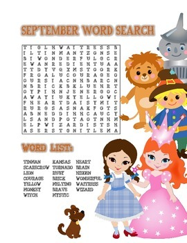 Word Search September (Fall)
