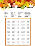 September Word Search
