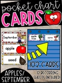 September Word Wall Words - Johnny Appleseed Pocket Chart