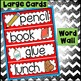Word Wall and Tracing: September August  (vocabulary, writing)
