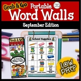 September Word Walls: Back to School, All About Me, Apples, Five Senses