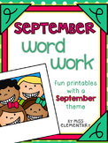September Word Work