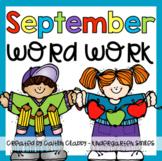 Word Work: September