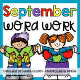 Word Work: September [Digital Centers Included]