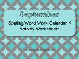 September Word Work Activities