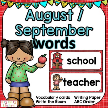 September Vocabulary Words