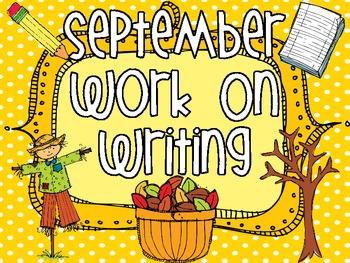 September Work On Writing Packet
