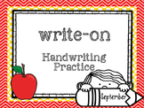 September Write-On (  Handwriting practice for 1st grade)