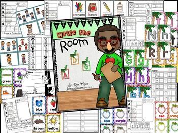 September Write the Room Activities for Kindergarten