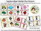 September Write the Room Bundle- Colors, Apples, Fall, Farm, Community Helpers
