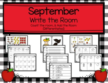 September Write the Room, Count the Room, and Add the Room