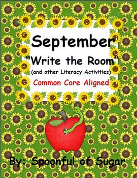 "September ""Write the Room"" (and other Literacy Activities)"