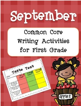 September Common Core Writing Activities for First Grade