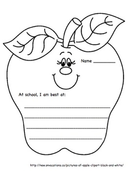 """September Writing Activity: """"At School I Am Best At..."""""""