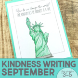September Writing Activity | Thankful for Kindness Writing