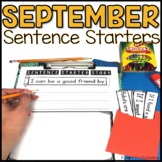 September Writing Activity: Interactive Sentence Starters
