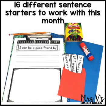September Writing Activity: Interactive Sentence Starters