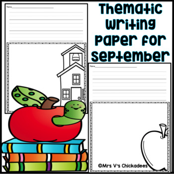 September Writing Center: Thematic Writing Paper
