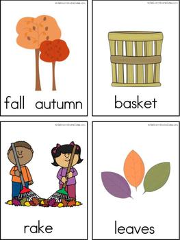September Writing Center Tools: Autumn Words