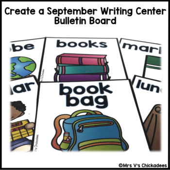September Writing Activity: Vocabulary Words & Portable List for Writing Centers