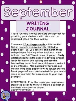 September Daily Writing Journal