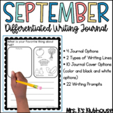 September Writing Journal- 21 NO PREP Differentiated Pages
