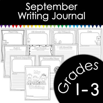 September Writing Journal with Prompts