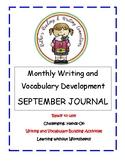 My September Writing Journal