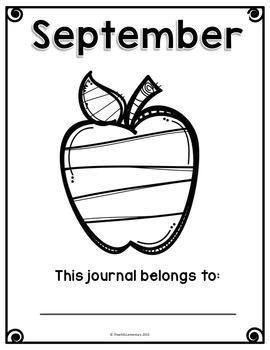 September Writing Journal {NO PREP}