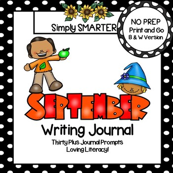 September Writing Journal:  NO PREP Journal Prompts