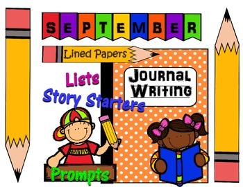 September Writing Journal Prompts, Lists, Story Starters &