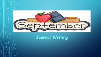September Writing Journal/ prompts/ free writing/ independent stations