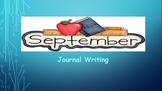 September Writing Journal/ prompts/ free writing/ independ