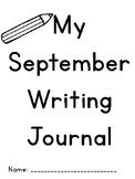 September Writing Journals Kindergarten