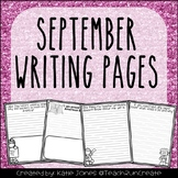 September Writing Pages